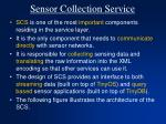 sensor collection service