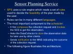 sensor planning service