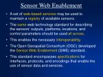 sensor web enablement
