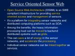 service oriented sensor web