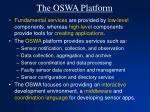 the oswa platform