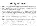 bibliografia turing