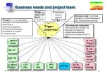 business needs and project team