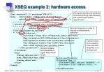 xseq example 2 hardware access