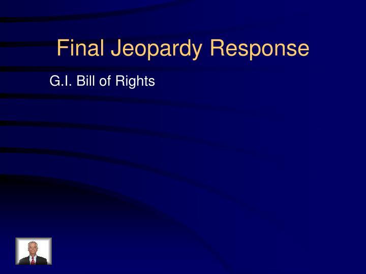 Final Jeopardy Response