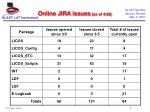 online jira issues as of 4 30