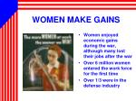 women make gains