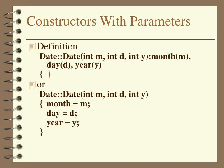 Constructors With Parameters