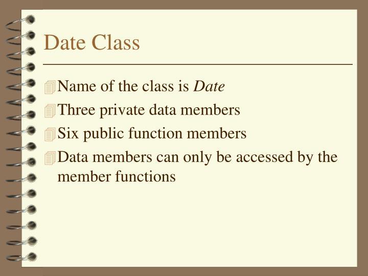 Date Class