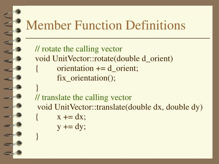 Member Function Definitions