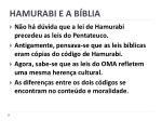 hamurabi e a b blia
