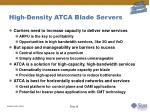 high density atca blade servers
