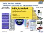 java portal server intelligent rendering for any access device