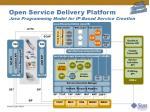 open service delivery platform java programming model for ip based service creation