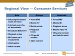 regional view consumer services