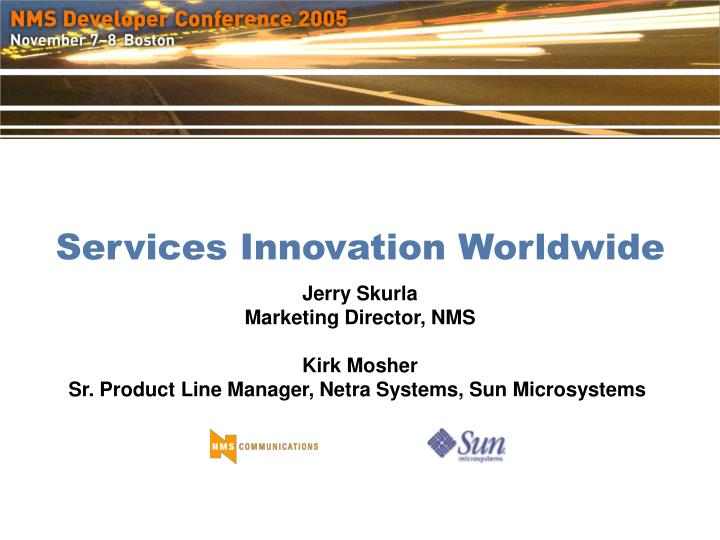 Services innovation worldwide