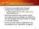 application sp integration