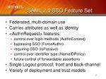 saml 2 0 sso feature set