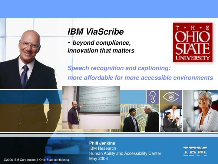 phill jenkins ibm research human ability and accessibility center may 2006 n.