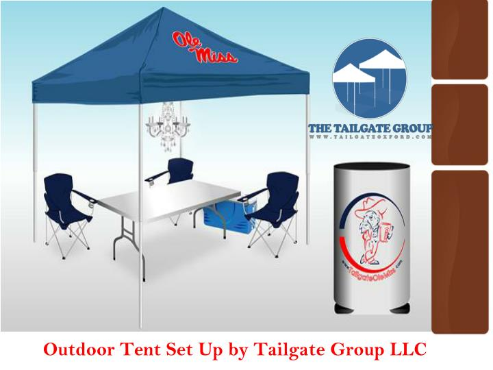 outdoor tent set up by tailgate group llc n.