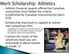 merit scholarship athletics