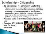 scholarship citizenship