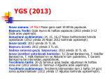 ygs 2013