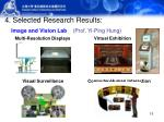 4 selected research results