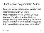 look ahead polynomial in action