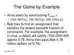 the game by example