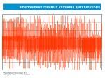 ilmanpaineen mitattua vaihtelua ajan funktiona