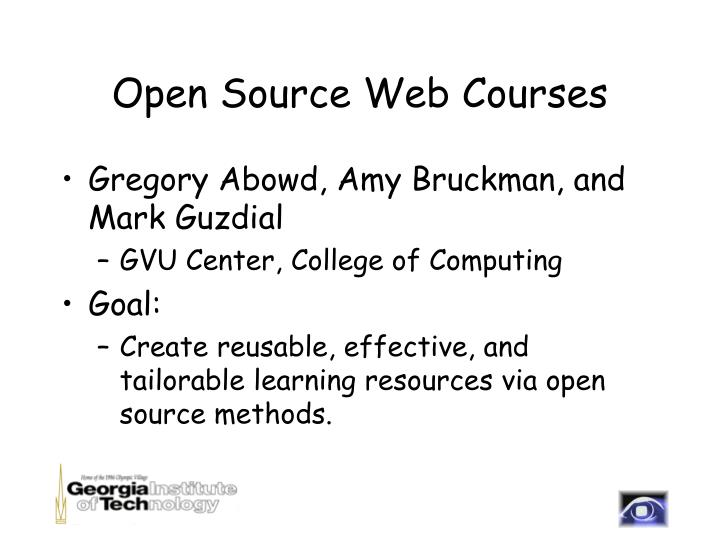 open source web courses n.