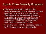 supply chain diversity programs1