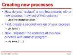 creating new processes