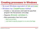 creating processes in windows