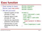 exec function