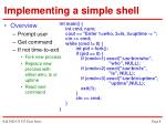implementing a simple shell