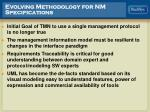 evolving methodology for nm specifications