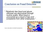 conclusion on fraud detection