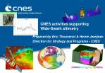 cnes activities supporting wide swath altimetry