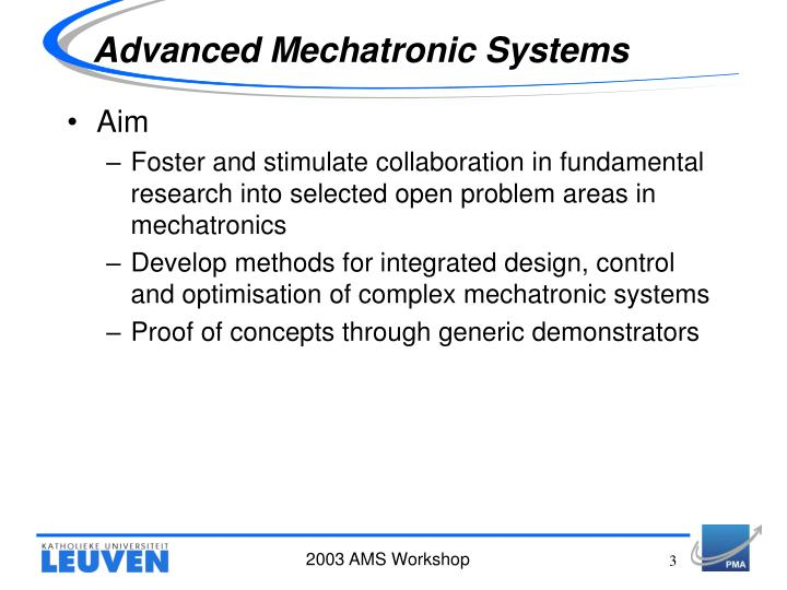 Advanced mechatronic systems1