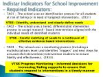 indistar indicators for school improvement required indicators1