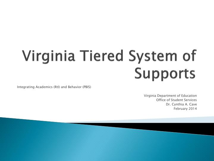 virginia tiered system of supports n.