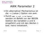 awk parameter 2