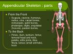 appendicular skeleton parts