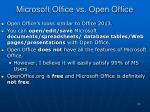 microsoft office vs open office