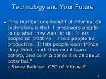 technology and your future