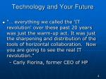 technology and your future1