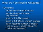 what do you need to graduate