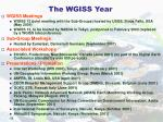 the wgiss year